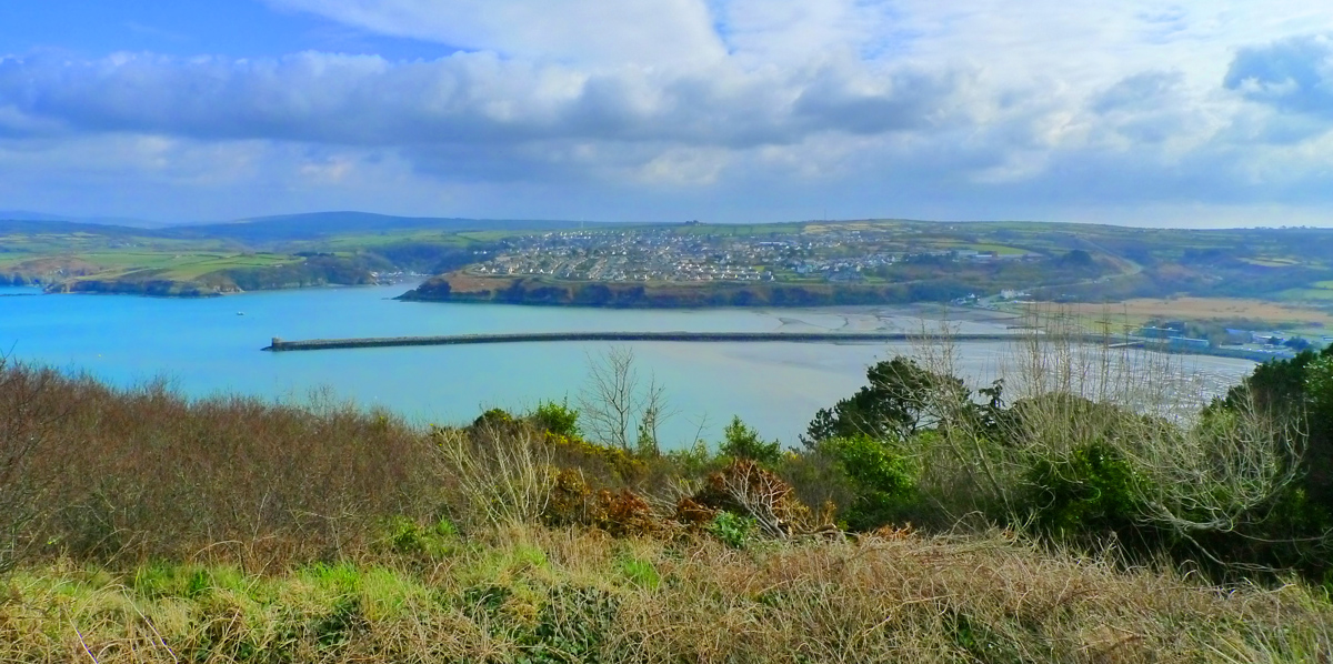 Fishguard and the harbour from Goodwick